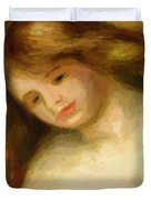 Bust Of A Young Nude 1903 Duvet Cover