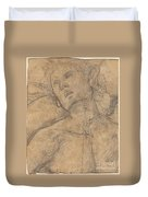 Bust Of A Youth Looking Upward [recto] Duvet Cover