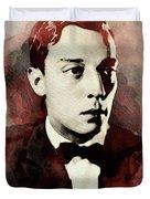 Buster Keaton, Legend Duvet Cover