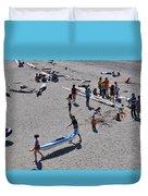 Busy Beach Duvet Cover