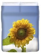 Busy Bee On A Sunflower Duvet Cover