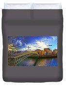 Busy Ha'penny Bridge 4 V2 Duvet Cover