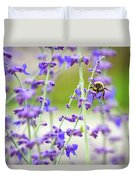 Busy In Lavender 3 Duvet Cover