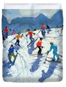 Busy Ski Slope Duvet Cover