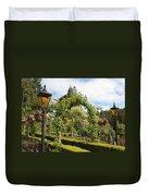 Butchart Gardens Arches Duvet Cover