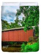 Butchers Mill Covered Bridge Duvet Cover