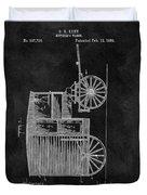 Butcher's Wagon Patent Duvet Cover