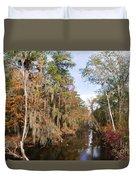 Butler Creek In Autumn Colors Duvet Cover