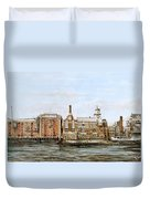 Butlers Wharf And Courage's Brewery Duvet Cover