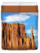 Butte And Clouds Duvet Cover