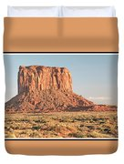 Butte, Monument Valley, Utah Duvet Cover