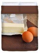 Butter And Eggs Duvet Cover