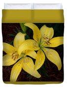 Buttercream Lilies Duvet Cover