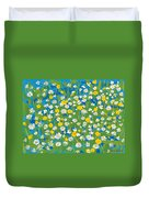 Buttercups And Daisies Duvet Cover