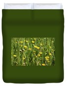 Buttercups And Green Grass At Moore State Park Duvet Cover