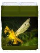 Butterflies And Blossoms Duvet Cover