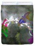 Butterflies And Dew Duvet Cover