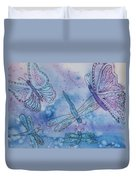 Butterflies And Dragonflies Duvet Cover