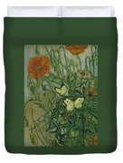 Butterflies And Poppies, 1890.  Duvet Cover