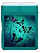 Butterflies At Dusk Duvet Cover