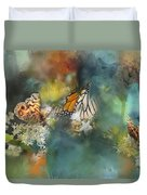 Butterflies On A Spring Day Duvet Cover