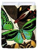 Butterflies, Plate-1 Duvet Cover