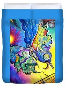 Butterfly 01. Science And Its Progress  Duvet Cover