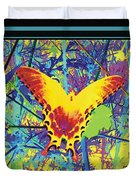 Butterfly All Aglow Duvet Cover