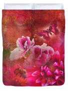 Butterfly And Bee Duvet Cover
