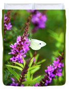 Butterfly And Bouquet Duvet Cover