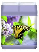 Butterfly And Lilacs Duvet Cover