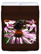 Butterfly And Pink Cone Flower Duvet Cover
