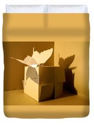Butterfly And The Cube 1 Duvet Cover