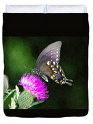 Butterfly And Thistle Duvet Cover