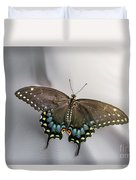 Butterfly At Picnic Duvet Cover