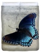 Butterfly Blue On Groovy Duvet Cover