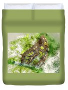 Butterfly Close Up Digital Watercolor On Photograph Duvet Cover