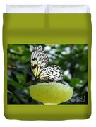 Butterfly Cocktail Time Duvet Cover