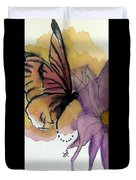 Butterfly Collecting Duvet Cover