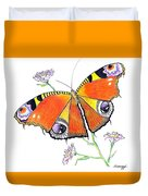 Butterfly Dressed For A Masquerade Ball Duvet Cover