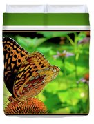 Butterfly For Earth Day Duvet Cover