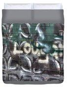 Butterfly Graffiti Duvet Cover