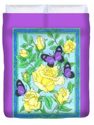 Butterfly Idyll-roses Duvet Cover