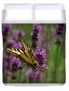 Butterfly In Lavender Duvet Cover