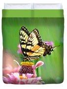 Butterfly In Summer Duvet Cover