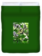 Butterfly In The Lilac No. 1 Duvet Cover