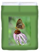 Butterfly In The Wind Duvet Cover
