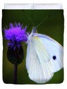 Butterfly In White Duvet Cover
