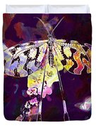 Butterfly Insect Black White  Duvet Cover