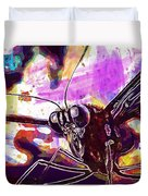 Butterfly Insect Eyes Probe  Duvet Cover
